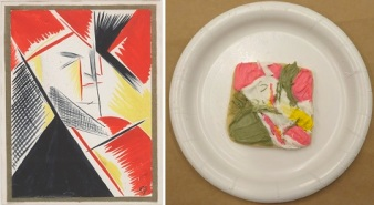 """Natalia Goncharova, """"Maquillage,"""" 1913-14, gouache on paper, Dallas Museum of Art, General Acquisitions Fund ,1981.37"""