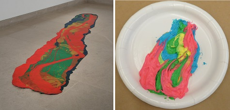 "Lynda Benglis, ""Odalisque (Hey, Hey Frankenthaler),"" 1969, poured pigmented latex, Dallas Museum of Art, DMA/amfAR Benefit Auction Fund, 2003.2, © Lynda Benglis / Licensed by VAGA, New York, NY"