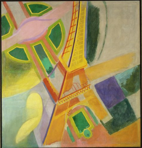 Robert Delaunay, Eiffel Tower, 1924, oil on canvas, Dallas Museum of Art, gift of the Meadows Foundation, Incorporated, © L & M Services B. V., Amsterdam, 1981.105