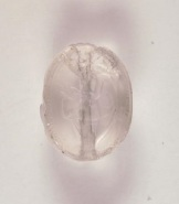 Scarab with intaglio of Herakles stringing his bow, Greek, c. 600 B.C.E., rock crystal, Dallas Museum of Art, gift of Jerry L. Abramson in memory of Max and Celia Abramson, 2006.68.3