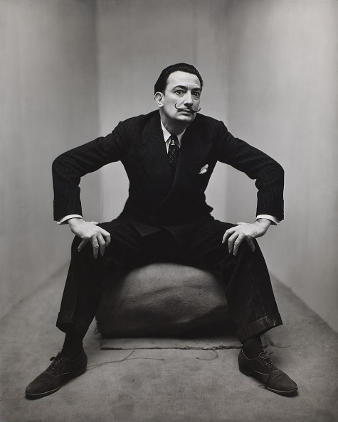 Irving Penn, Salvador Dali, New York, 1947, gelatin silver print, Smithsonian American Art Museum, Gift of the artist. Copyright © The Irving Penn Foundation