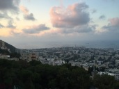 Madeleine stayed with her friend's family in Israel. This is the view of the Mediterranean from her house!