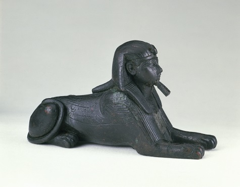 Sphinx of King Sheshenq, c. 945–718 B.C.E., bronze, Brooklyn Museum. Charles Edwin Wilbour Fund, 33.586