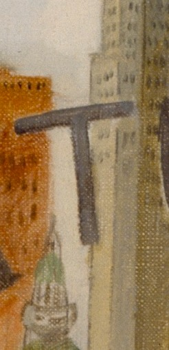Detail of Art Beauty Shoppe, 1934, Issac Soyer, Dallas Museum of Art, gift of the Public Works of Art Project