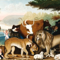 Edward Hicks, The Peaceable Kingdom, 1846-1847, Dallas Museum of Art, The Art Museum League Fund.