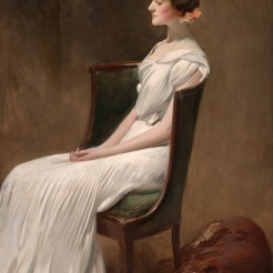 John White Alexander, Miss Dorothy Quincy Roosevelt (later Mrs. Langdon Geer), 1901-1902, Dallas Museum of Art, gift of the Pauline Allen Gill Foundation in memory of Pauline Gill Sullivan.