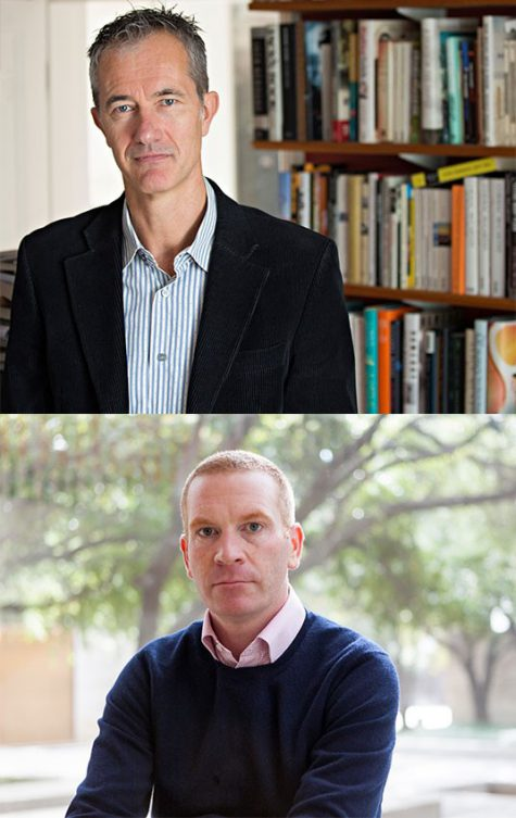 Top: author Geoff Dyer Bottom: DMA curator Gavin Delahunty