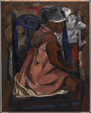 """Rufino Tamayo, """"The Blue Chair,"""" 1931, oil on canvas, Dallas Museum of Art, gift of Mrs. Alex Camp, 1965.24, © Estate of the artist in support of Fundacion Olga Y Rufino Tamayo, A.C."""