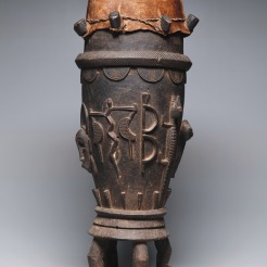 Drum, Cote d'Ivoire (Ivory Coast), Senufo peoples, 20th century, Dallas Museum of Art, Foundation for the Arts Collection, gift of Mr. and Mrs. Stanley Marcus