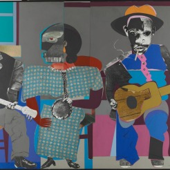 Romare Bearden, Soul Three, 1968, Dallas Museum of Art, General Acquisitions Fund and Roberta Coke Camp Fund, © Romare Bearden Foundation / Licensed by VAGA, New York, NY.