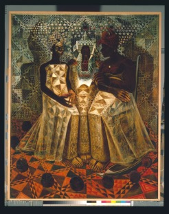 John Thomas Biggers, Starry Crown, 1987, Dallas Museum of Art, Museum League Purchase Fund, Art © Estate of John Biggers / Licensed by VAGA, New York, NY.