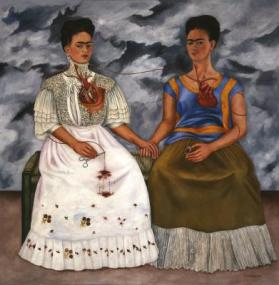 Frida Kahlo, The Two Fridas (Las dos Fridas), 1939, oil on canvas, Mexico, INBA, collection Museo de Arte Moderno © 2017 Banco de México Diego Rivera Frida Kahlo Museums Trust, Mexico, D.F. / Artists Rights Society (ARS), New York