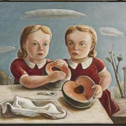 Everett Spruce, Twins, 1939-1940, Oil on canvas, Dealey Prize, Eleventh Annual Dallas Allied Arts Exhibiton