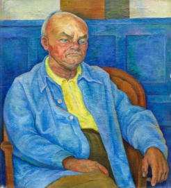 Diego Rivera, Portrait of Dr. Otto Ruhle, 1940, Oil on Canvas, Gift of Elizabeth B. Blake