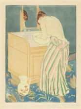 Mary Cassatt, Woman Bathing, 1890–91, drypoint and aquatint, National Gallery of Art, Washington, Gift of Mrs. Lessing J. Rosenwald