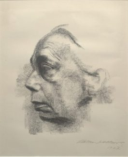 Käthe Kollwitz, Self Portrait, 1927, lithograph, Dallas Museum of Art, gift of Mr. and Mrs. Alfred L. Bromberg, 1953.37