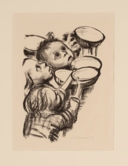 Käthe Kollwitz, Hungry children (Deutschlands Kinder Hungern!), 1924, Lithograph, Dallas Museum of Art, Foundation for the Arts, The Alfred and Juanita Bromberg Collection, bequest of Juanita K. Bromberg, 2000.246.FA