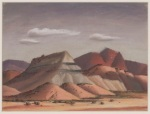 "Jerry Bywaters, ""Christmas Mountains,"" by 1939, pastel on board, Dallas Museum of Art, Titche-Goettinger Company and Art Education Club Prize, Tenth Annual Dallas Allied Arts Exhibition, 1939, 1939.6"