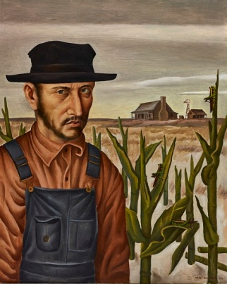 "Jerry Bywaters, ""Share Cropper,"" 1937, oil on Masonite, Dallas Museum of Art, Allied Arts Civic Prize, Eighth Annual Dallas Allied Arts Exhibition, 1937, 1937.1"