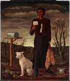"Amelia Urbach, ""The Letter,"" 1939, oil on Masonite, Dallas Museum of Art, Kiest Fund Prize, Tenth Annual Dallas Allied Art Exhibition, 1939, 1939.3"