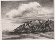"Bertha M. Landers, ""Cheyenne Mountains,"" 1941, lithograph, Dallas Museum of Art, Elizabeth Crocker Memorial Prize, Twelfth Annual Dallas Allied Arts Exhibition, 1941, 1941.6"