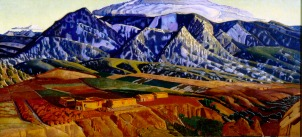 "Ernest Blumenschein, ""Mountains Near Taos,"" 1926-34, oil on canvas, Dallas Museum of Art, gift of Helen Blumenschein, 1960.145, © Estate of Ernest Blumenschein"