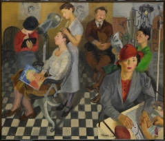 "Isaac Soyer, ""Art Beauty Shoppe,"" 1934, oil on canvas, Dallas Museum of Art, gift of the Public Works of Art Project, 1935.7"