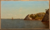 "John Frederick Kensett, ""Newport, Rhode Island (Beacon Rock),"" 1982, oil on canvas, Dallas Museum of Art, gift of Mrs. Eugene McDermott, 1994.6"