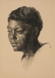 "Olin Herman Travis, ""Head,"" c. 1930, lithographic crayon, Dallas Museum of Art, gift of Margaret Scruggs Carruth, 1930.8"