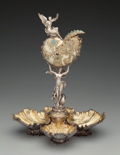 Nautilus Centerpiece, William C. Codman, Gorham Manufacturing Company, 1893, silver gilt, pearls, turquoise, jade, garnet, tourmaline, amethyst, and shell, Dallas Museum of Art, gift of the 1990 Silver Supper Participants: Dr. and Mrs. Kenneth Altshuler, Mr. and Mrs. James P. Barrow, Mr. and Mrs. Duncan E. Boeckman, Mrs. Charles L. Bybee, Miss Wendy Garrett, Mrs. Albert G. Hill, Mr. and Mrs. S. Roger Horchow, Mrs. Barron Kidd, Dr. and Mrs. Mark L. Lemmon, Mr. and Mrs. Stanley Marcus, Mr. and Mrs. Tom Marsh, Mrs. Eugene McDermott, Mr. and Mrs. Peter O'Donnell, Jr., Mr. David T. Owsley, Mr. and Mrs. H. Ross Perot, Mr. and Mrs. C.V. Prothro, and Mrs. Elloine M. Sinclair, 1990.176