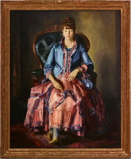 "George Wesley Bellows, ""Emma in a Purple Dress,"" 1920-23, oil on canvas, Dallas Museum of Art, Dallas Art Association Purchase, 1956.58"